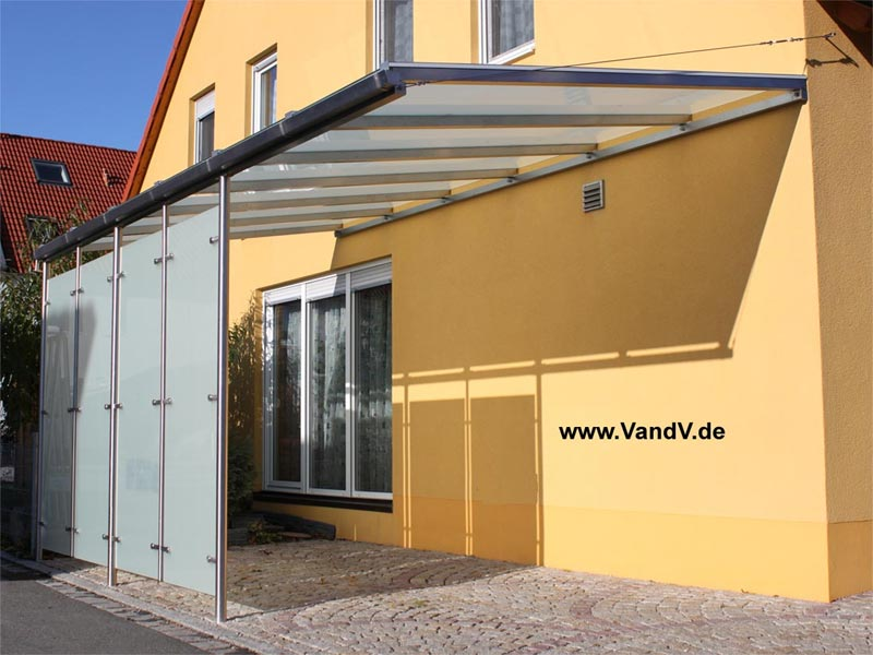 edelstahl nach ma vordach carport gel nder zaun tor markisen berdachung. Black Bedroom Furniture Sets. Home Design Ideas